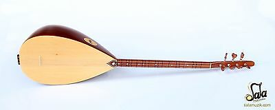 Turkish Quality  Short Neck Mahogany Baglama Saz For Sale Ask-201