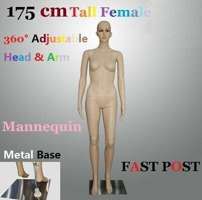 Full 175cm Female Mannequin Dummy Adjustable Detachable Display Showcase Clothes