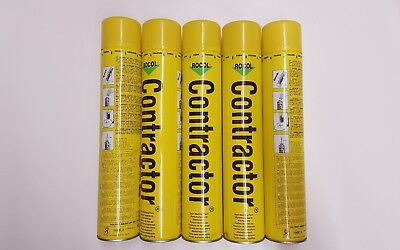 5 x 750 ml Yellow Contractor Survey Line Marker Marking Spray Paint.