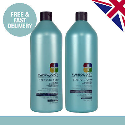 Pureology Strength Cure Shampoo and Conditioner Duo | 1000ml | Salon Size