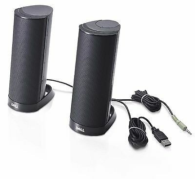 BRAND NEW SEALED STEREO COMPUTER SPEAKERS Dell AX210 PC System USB Powered W955K