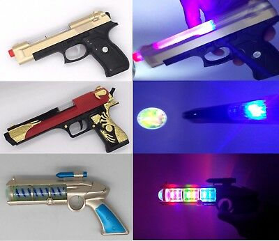 Gold-Eagle Pistol Toy Gun with Light ,Sound & Vibration Effects For Kids - GN En