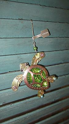 Nwt Chico's Copper Gold Mixed Metal Sea Turtle Christmas Ornament #570157210
