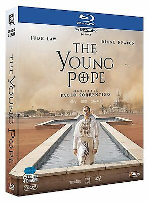 The Young Pope(4 Blu-Ray) Di Paolo Sorrentino-Cofanetto Italiano,Nuovo,Originale