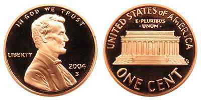 2004-S Proof Lincoln Memorial Cent Penny Deep Cameo , FREE SHIPPING!