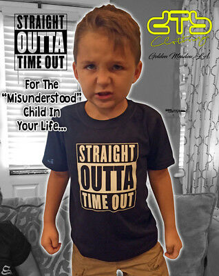STRAIGHT OUTTA TIMEOUT Toddler & Youth size shirts Time Out Compton NWA Easy E