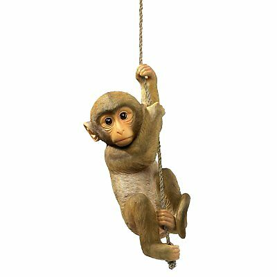 the chimpanzee hanging baby monkey statue