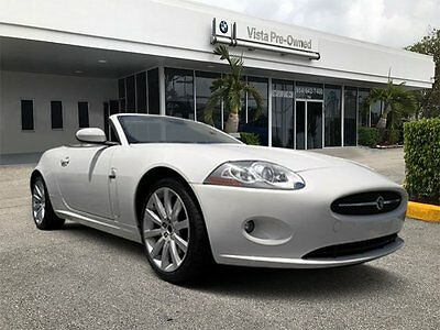 2007 Jaguar XK Base Convertible 2-Door 2007 Convertible Used Gas V8 4.2L/256 6-Speed Automatic RWD Leather White