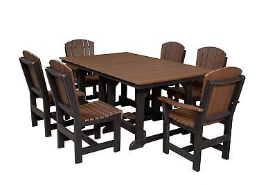 Wildridge Recycled Plastic Heritage  44x72 Dining Table with 6 Chairs
