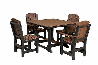 Wildridge Recycled Plastic Heritage 44x44 Dining Table with 4 Chairs