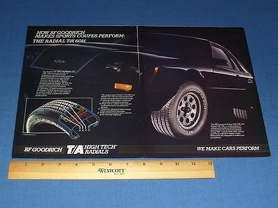 1984 Bf Goodrich 2 Page Tire Print Ad | With Clear Bag & Backboard! | #11