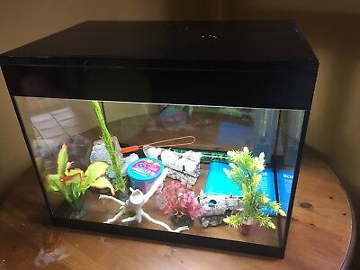 Askoll Complete Fish Tank Inc Submarine And Plants Etc LARGE