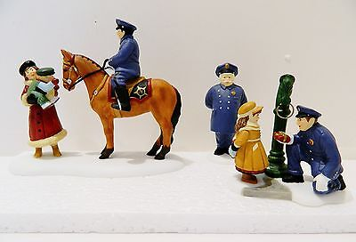 """Dept.56  Heritage-Dickens Village  Accessory   """"to Protect & To Serve""""  Set Of 3"""