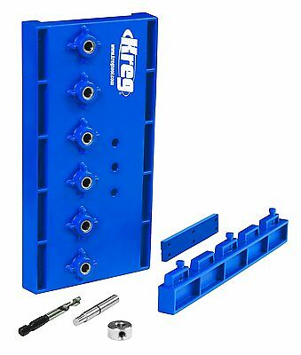 Kreg KMA3220 Woodworking Shelf Pin Drilling Jig Guide with 5mm Drill Bit