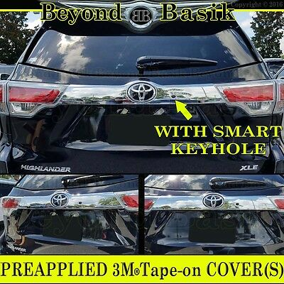 2014-2019 TOYOTA Highlander Chrome Liftgate Tailgate Handle COVER W/Smart KeyHL