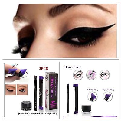 Vamp Stamp Easy Cat Eye Wing Eyeliner Stamp Winged Ink VERGE Easy Brush Tool UK
