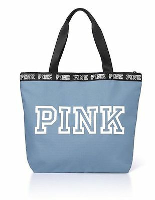NEW Victoria's Secret PINK Weekender Tote Duffle Bag Travel BLUE AUTHENTIC