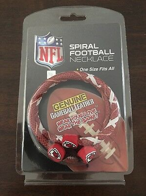 31e6c294e NFL Spiral Football Necklace Kansas City Chiefs Classic FREE N FAST  SHIPPING NFL