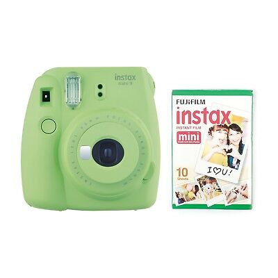 FujiFilm Instax Mini 9 Camera Bundle*30 Shots*Case*Film Album* - LIME GREEN