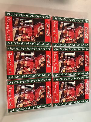 6-santa On Stairs Coca-cola Playing Cards 1993 Sealed New!!!
