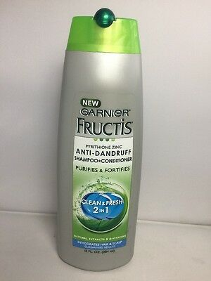Garnier Fructis Anti Dandruff Clean & Fresh 2in1 Shampoo Conditioner 13 Oz 384ml