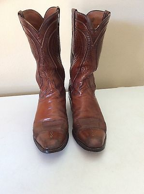 Vintage Lucchese Collection Brown Leather Western Boots Men's 10.5 D