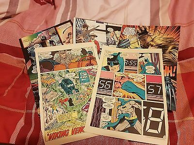 25 DC/Marvel Comic Pages, Craft, Decoupage, Mixed Media, Arts, Collage, Vintage