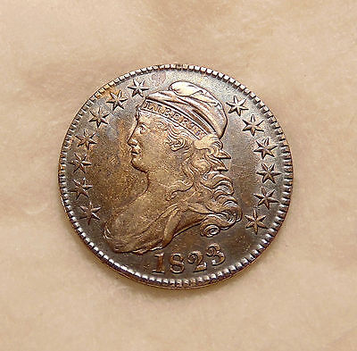 1823 Capped Bust Half - Overton-105 - Sharp Looking Coin