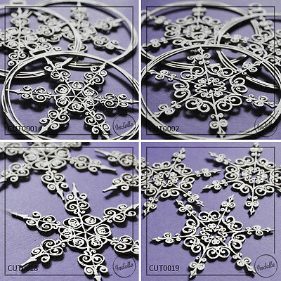 Snowflake Christmas Ball Chipboard Shapes Cardmaking Papercraft 3 pack