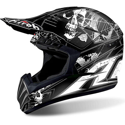 Airoh NEW Mx 2018 Switch Scary Matte Black Adults Motocross Dirt Bike Helmet