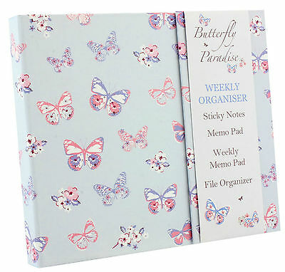 Butterfly Paradise Luxury Weekly Organiser Planner Book Diary Gift