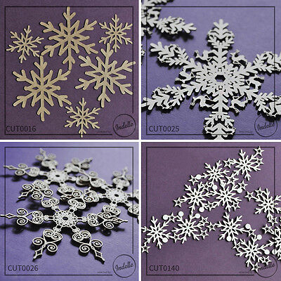 Snowflake Christmas Chipboard Shapes Cardmaking Papercraft