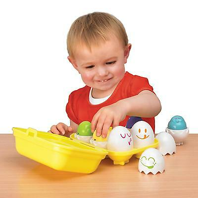 Tomy Pre-School Toys Hide & Squeak Eggs fun with matching chicks with shells