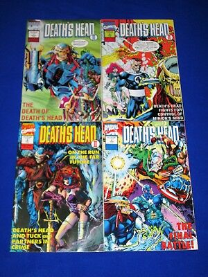 Lot of 4 DEATH'S HEAD II Issues 1 - 4 Complete [Marvel 1992] VG/NM or Better!