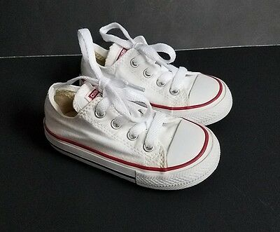 Converse Girls Boys Shoes Size 6 Toddler White Canvas Sneakers