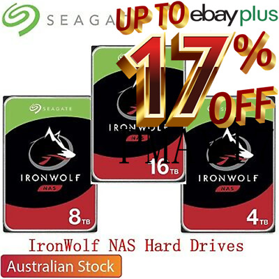 "Seagate IronWolf 4TB 6TB 8TB 10TB 3.5"" SATA Internal NAS Hard Drive HDD"