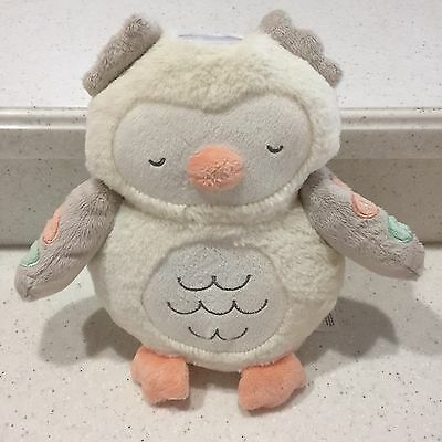 CARTERS Cream Owl Projector Musical Sound Machine White Noise Timer TRAVEL Plush