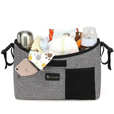 Baby Stroller Organizer with Cup Holders Universal - Mini Diaper Bag with Sho...