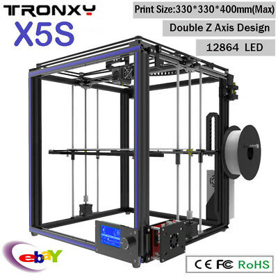 Tronxy X5S Large 3D Printer Double Z Axis Design High Precision diy kit 12864LCD