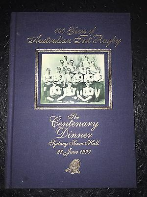 100 Years Australian Test Rugby - Dinner Book 13 Wallaby Captains Signed & PM