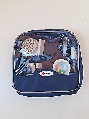 The First Years American Red Cross Deluxe Baby Healthcare and Grooming Kit Blue