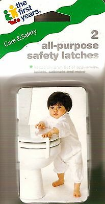 The First Years All Purpose Safety Latches Baby Kids Toddler Protection 2 Pack