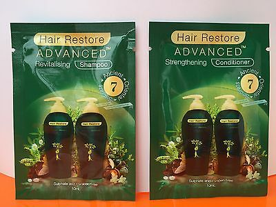 Hair Restore Advanced Sachets Hair Loss REVITALISING SHAMPOO&CON hair regrowth