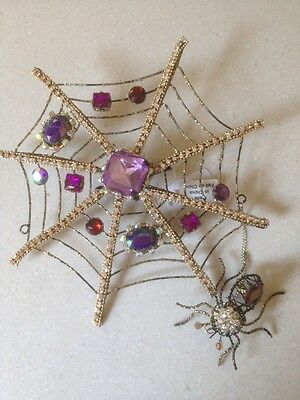 Katherine's Collection Jewelled Spider Web Ornament/Hairclip--discontinued