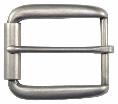 "Elongated Roller Belt Buckle for 1 1/2"" Belts - Silver - TheBeltShoppe"