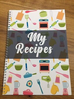 Kids / Childrens A4 Recipe Journal - 60 pg - cook book - blank pages