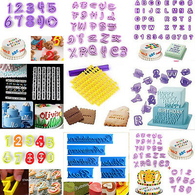 1Set Alphabet Number Letter Fondant Cake Decor Cookies Cutter Mold Mould Tools