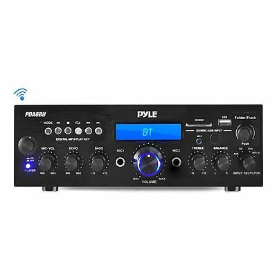 PYLE PDA6BU Bluetooth Stereo Amplifier Receiver