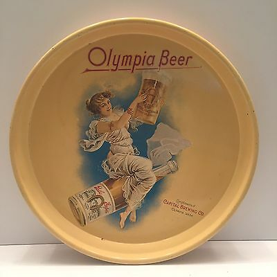 Vintage Olympia Beer Metal Serving Tray Capitol Brewing EX!