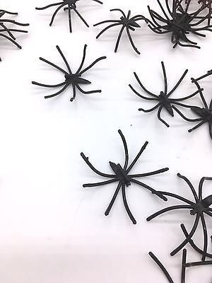 30pc Mini Small Spiders Halloween Decorations Table Confetti Plastic